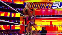 Triple threat match for the WWE SmackDown Women's Championship  – Carmella (c) vs. Becky Lynch vs. Charlotte Flair - WWE SummerSlam 2018 8/19/18