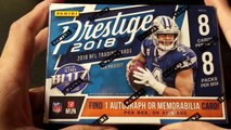 2018 Panini Prestige NFL Football trading cards. Super Bowl Champion Quarterback hit.