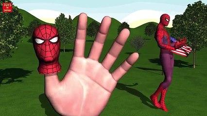 SPIDER MAN WONDER WOMAN DANCE Finger Family   Nursery Rhymes for Children   3D Animation