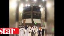 Mekke'de şiddetli fırtına ve yağmur korkuttu