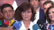 """Calvo, sobre las declaraciones de Torra de """"atacar al Estado español"""": """"Es una frase inaceptable con la que no se ataca al Estado"""""""