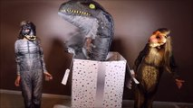 New Jurassic World Dino Sisters Unbox Huge Box  Surprise Hatchimal Birthday Toys T-Rex vs Indoraptor