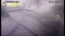 Gênes : Images de vidéosurveillance de l'effondrement du pont