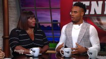 Former #NFL running back @RashadJennings speaks with #PageSixTV's @BevySmith about the @Kaepernick7 controversy. Plus, the former #DWTS champ takes Bevy for a spin on the dance floor!