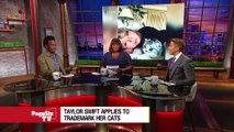 Haters gonna hate, hate, hate, hate, hate, but @TaylorSwift13 is cat-pitalizing on her feline friends! #PageSixTV's got the story on why T-Swift has trademarked her pets!