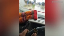 Lads Use Rope To Operate Windscreen Wipers