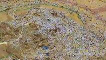 Hajj: images aériennes de pèlerins priant sur le mont Arafat