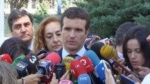 Casado pide a Sánchez que frene las amenazas de Torra o el PP pedirá otro 155