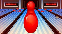 Learn colors with colors bowling game Nursery children learn colors videos kids Learning V