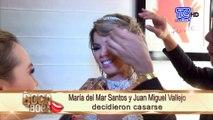 María del Mar Santos minutos antes de casarse con Juan Miguel Vallejo