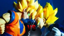 Dragon Ball Z Stop Motion Goku SSJ VS Vegeta SSJ