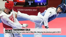 South Korea wins 3 gold medals in fencing, taekwondo on Day 2