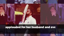 Anushka Sharma, Virat Kohli exchange flying kisses as he hits another century