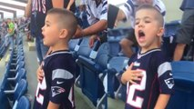 Little Boy Sings Along to National Anthem at New England Patriots Game