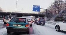 Schnee Chaos | Schnee auf der Autobahn Deutsche Autobahnen im Schnee | Icy Highways German