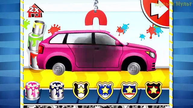 Car Fory | CAR WASH | Videos for kids | Videos For Children | Police Car for Kids Game