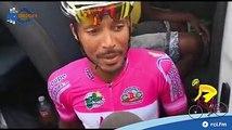 Interview de Boris CARENE, actuel porteur du maillot fushia (général combiné - GUADELOUPE POLE CARAIBES) avant le départ de cette 6ème étape du Tour Cycliste ce