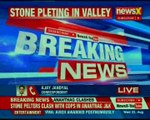 Jammu & Kashmir: Protestors pelted stones & shouted slogans against Indian army in Anantnag