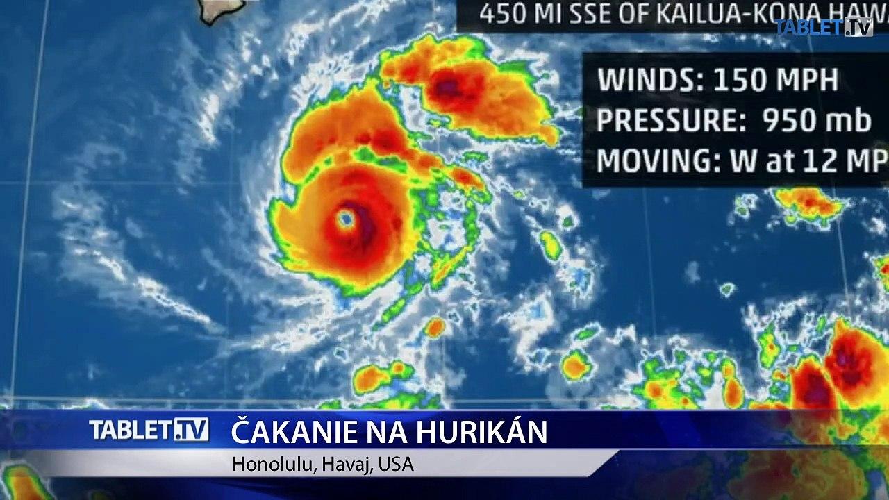 Havajský guvernér vyhlásil stav ohrozenia pred blížiacim sa hurikánom