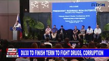 Du30 to finish term to fight drugs, corruption