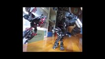 Transformers dark of the moon : dread vs ironhide and sideswipe stop motion