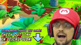 SUPER HERO MARIO vs PLAYGROUND RABBIDS Skit FGTEEV plays Mar