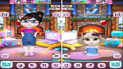 My Talking Angela BABY VS ADULT SIZE Great Makeup Android Gameplay