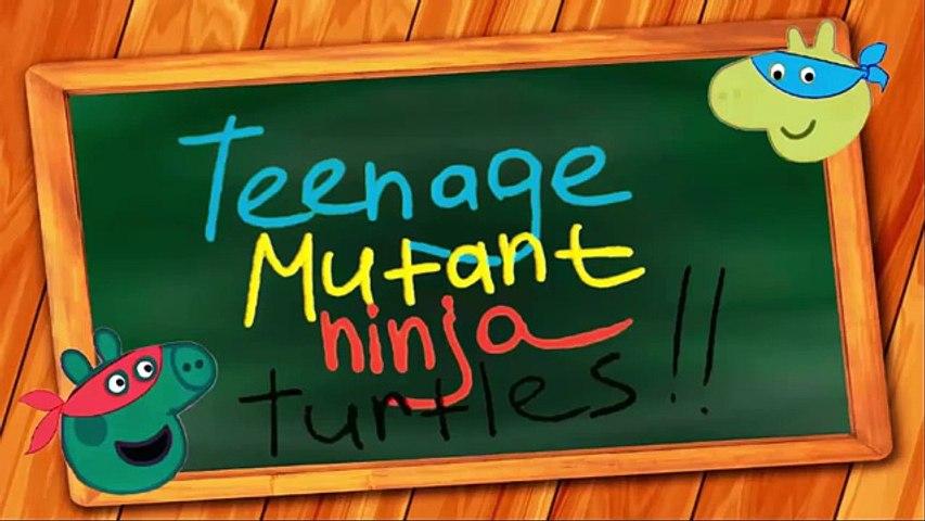 PEPPA PIG English Teenage mutant ninja turtles | Fun Coloring for Kids