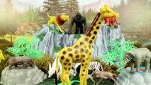 Learn Wild Animal Toys Names Zoo Animals Elephant Lion Tiger Rhino Toys for Kids