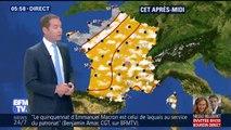 La pluie arrive par la Manche et gagnera dans la journée le nord-ouest de la France