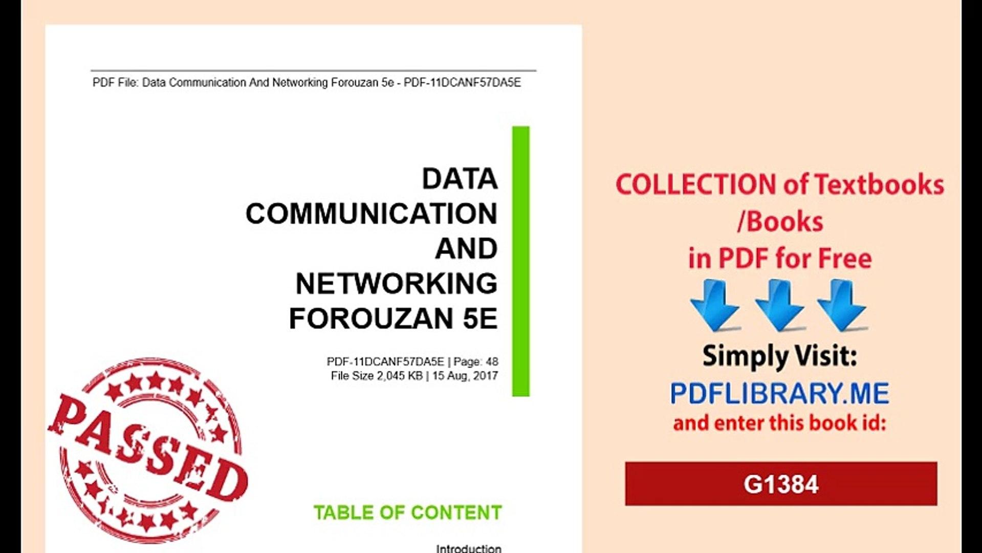 Data Communication And Networking Forouzan 5e