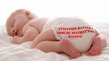Résidus de substances toxiques dans les couches pour bébés