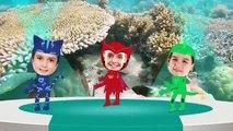 PJ Masks Catboy Owlette Gekko (Kids Wearing PJ Masks Costumes) Dance with Baby Shark Song
