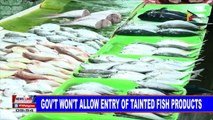Government won't allow entry of tainted fish products