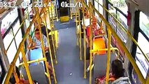 Senior jumps out of bus window after driver refused to open door