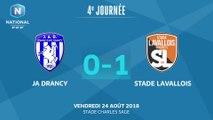 J4: JA Drancy – Stade Lavallois (0-1), le résumé