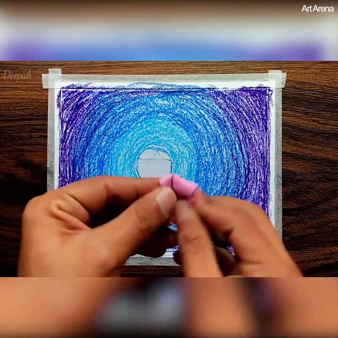 How to draw beautiful Dream Scenery with oil pastels! ‍Credit: Art Arena  Youtube - goo gl/tPNYk4
