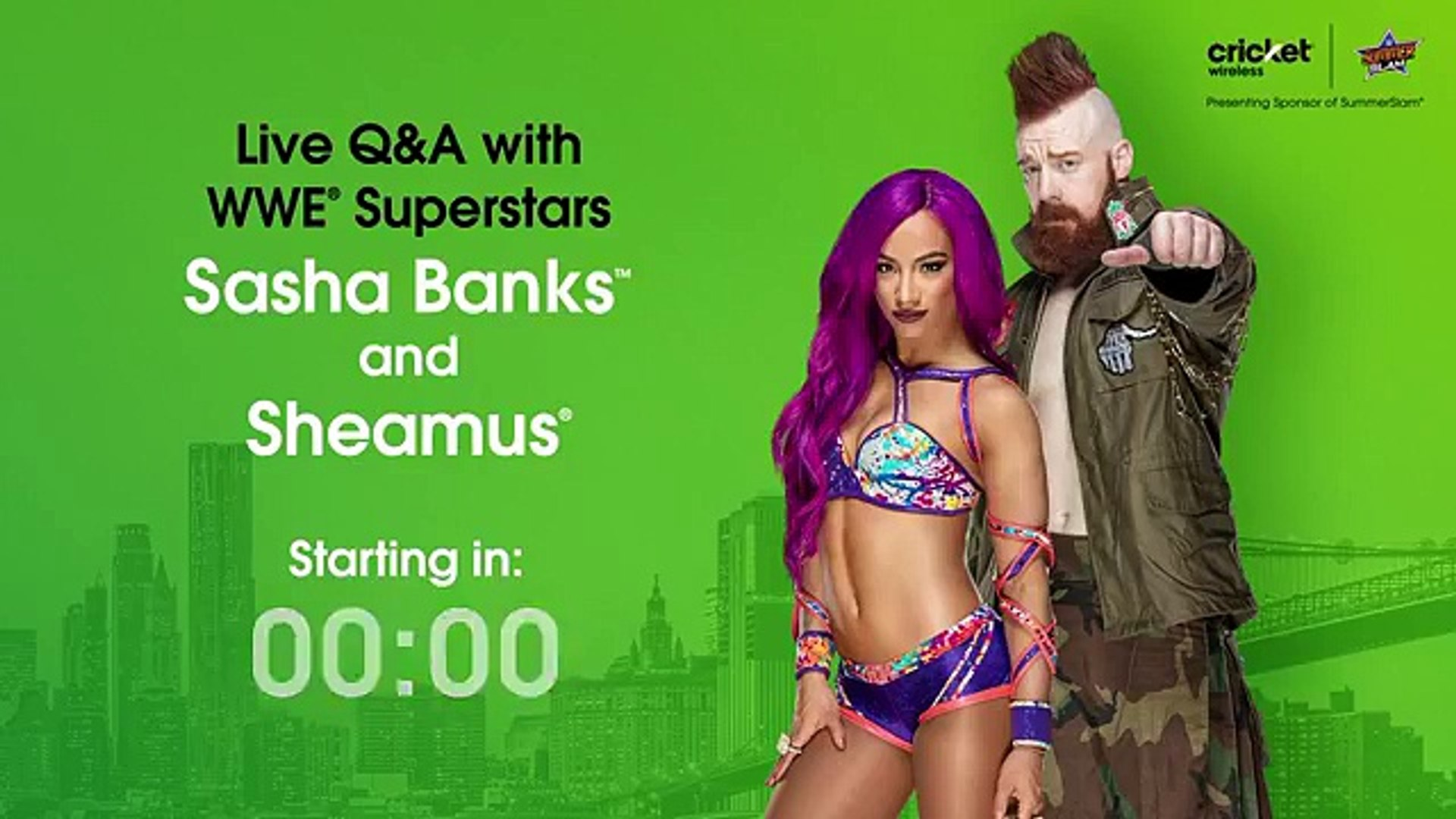 WWE fans—we're hosting a LIVE Q&A with WWE Superstars Sasha Banks and Sheamus in Brooklyn during