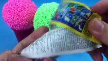 Foam Clay Ice Cream Surprise Eggs Mickey Mouse Superman Inside Out Captain America The Goo