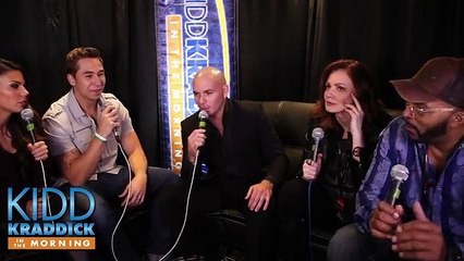 EXCLUSIVE Pitpull backstage iHeartRadio Jingle Ball new interview