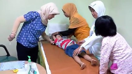 Pantang bagi jagoan untuk menangis saat imunisasi