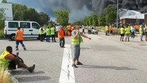 Valence : incendie à Allopneus, les employés évacués