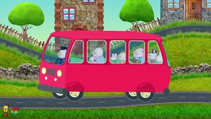 The Wheels On The Bus Go Round and Round | FunForKidsTV Nursery Rhymes