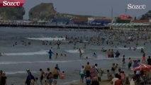 Ayazma Plajı'nın boşaltılması için uyarılar yapıldı! Kimse uyarılara kulak asmadı