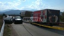 Report TV - Aksident në Kukës, përplasen dy makina, tre të plagosur, njëri rëndë