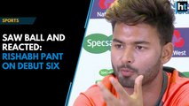 """""""Saw the ball and reacted,"""" says Rishabh Pant on second-ball six in Test debut"""