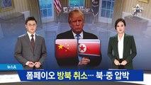 폼페이오 4차 방북 취소…북·중 압박 '승부수'