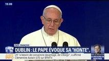 """Dublin: le pape évoque sa """"honte"""" après les scandales de pédophilie dans l'Église catholique"""