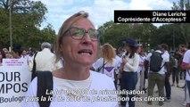 Des travailleurs sexuels et militants LGBT se sont rassemblés en hommage à Vanesa Campos