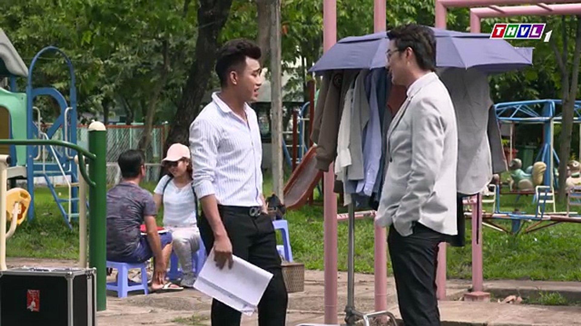 THVL  Bí mật quý ông - Tập 82[2] Quỳnh hả hê đánh Lâm trên phim trường